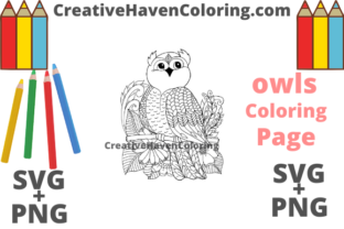 Download Free Owl Coloring Page 16 Graphic By Creativehavencoloring for Cricut Explore, Silhouette and other cutting machines.