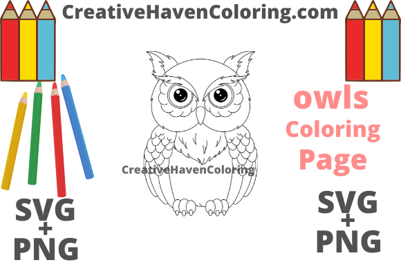 Download Free Owl Coloring Page 17 Graphic By Creativehavencoloring SVG Cut Files