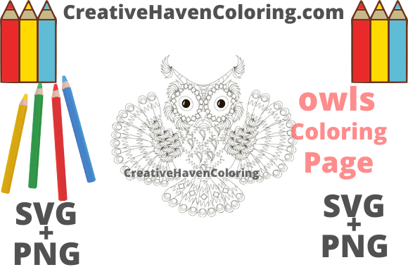 Download Free Owl Coloring Page 3 Graphic By Creativehavencoloring Creative for Cricut Explore, Silhouette and other cutting machines.