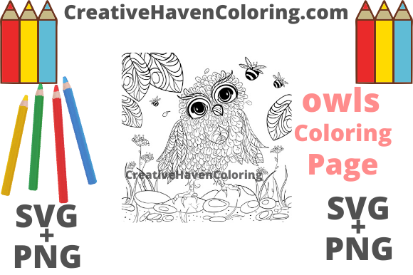 Download Free Owl Coloring Page 4 Graphic By Creativehavencoloring Creative for Cricut Explore, Silhouette and other cutting machines.