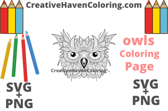 Download Free Owl Coloring Page 6 Graphic By Creativehavencoloring Creative for Cricut Explore, Silhouette and other cutting machines.