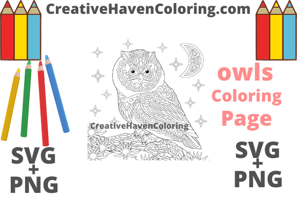 Download Free Owl Coloring Page 8 Svg Png Graphic By for Cricut Explore, Silhouette and other cutting machines.