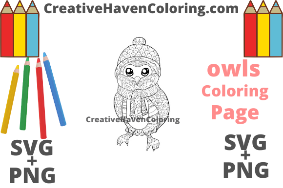 Download Free Owl Coloring Page 9 Svg Png Graphic By for Cricut Explore, Silhouette and other cutting machines.