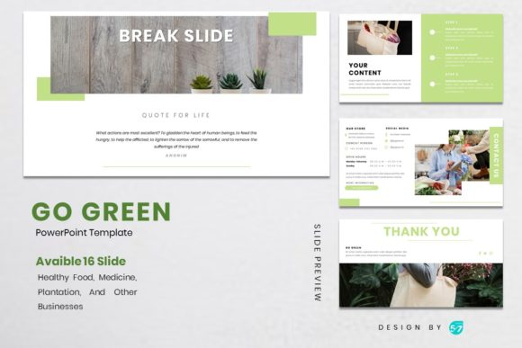 Download Free Powerpoint Template Go Green Graphic By Maju57creative Creative Fabrica for Cricut Explore, Silhouette and other cutting machines.
