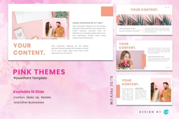Download Free Powerpoint Template Pink Themes Graphic By Maju57creative for Cricut Explore, Silhouette and other cutting machines.