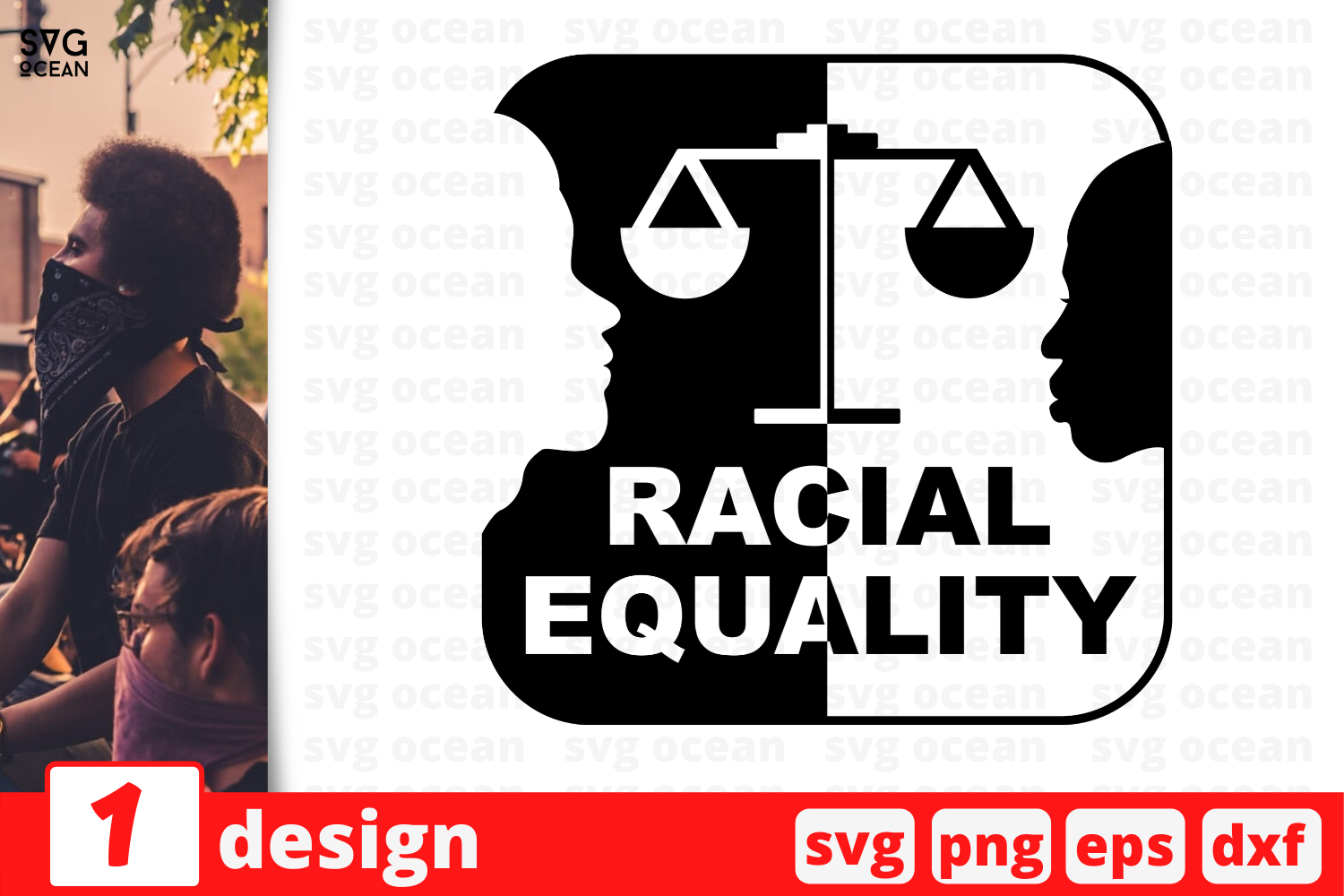 Download Free Racial Equality Graphic By Svgocean Creative Fabrica for Cricut Explore, Silhouette and other cutting machines.