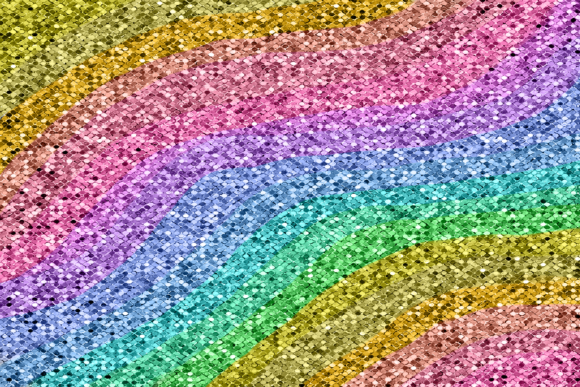 Print on Demand: Rainbow Ombre Gradient Glitter Texture Graphic Backgrounds By AM Digital Designs