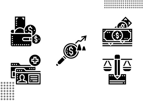 Saving and Investment Fill Graphic Icons By cool.coolpkm3
