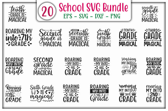 Print on Demand: School Quotes Design Bundle Graphic Print Templates By GraphicsBooth