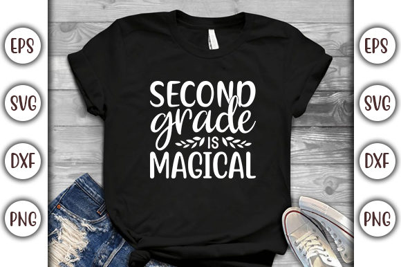 Download Free School Quotes Design Second Grade Is Graphic By Graphicsbooth for Cricut Explore, Silhouette and other cutting machines.