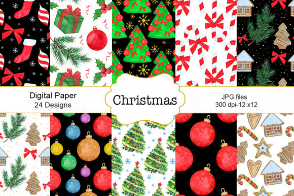 Download Free Seamless Pattern Christmas Watercolor Graphic By Shishkovaiv SVG Cut Files