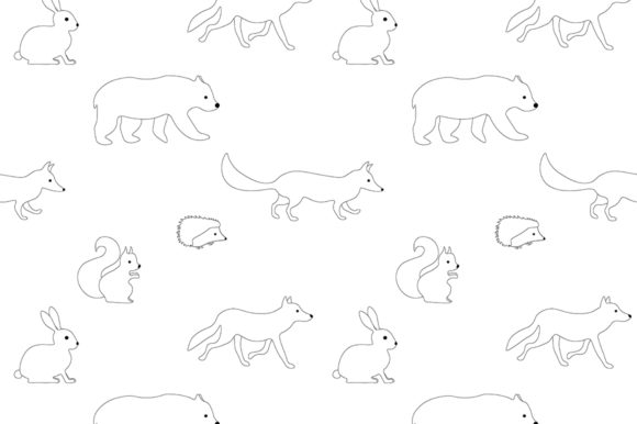 Download Free Set Of Illustrations Animals Forest Graphic Graphic By for Cricut Explore, Silhouette and other cutting machines.