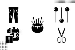 Sewing Equipment Fill Graphic Icons By cool.coolpkm3