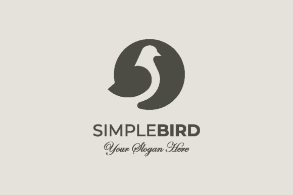 Download Free Simple Bird Logo Template Graphic By Buqancreativestd Creative for Cricut Explore, Silhouette and other cutting machines.