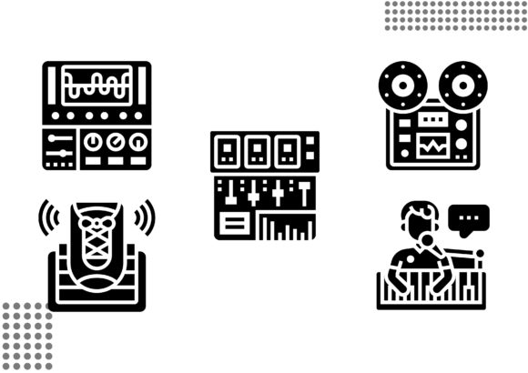 Download Free Sound Studio Fill Graphic By Cool Coolpkm3 Creative Fabrica for Cricut Explore, Silhouette and other cutting machines.