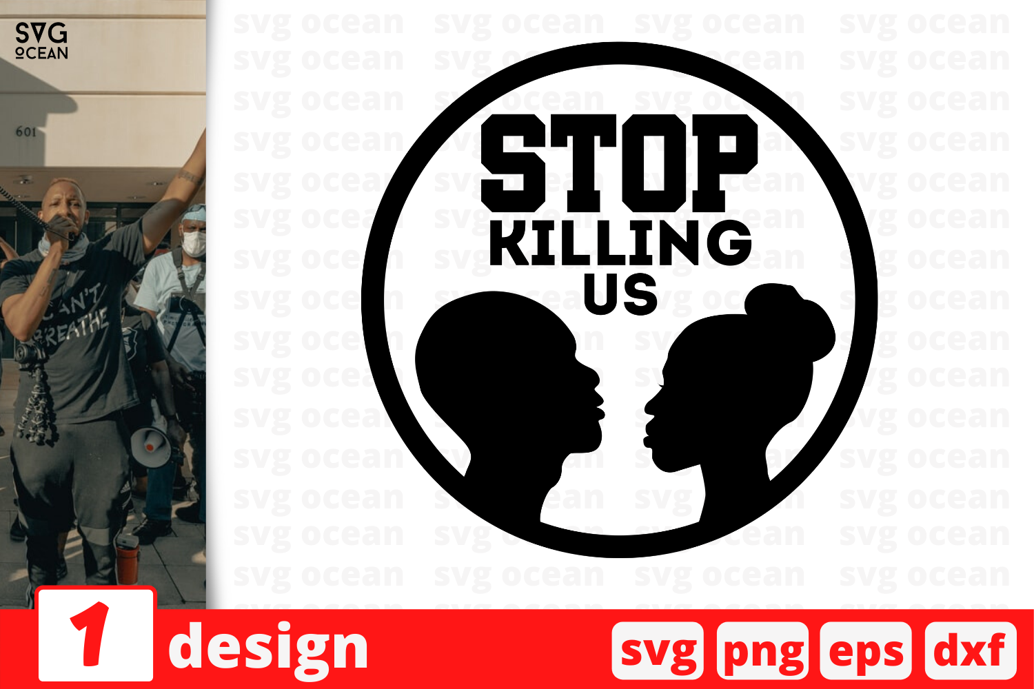 Download Free Stop Killing Us Graphic By Svgocean Creative Fabrica for Cricut Explore, Silhouette and other cutting machines.