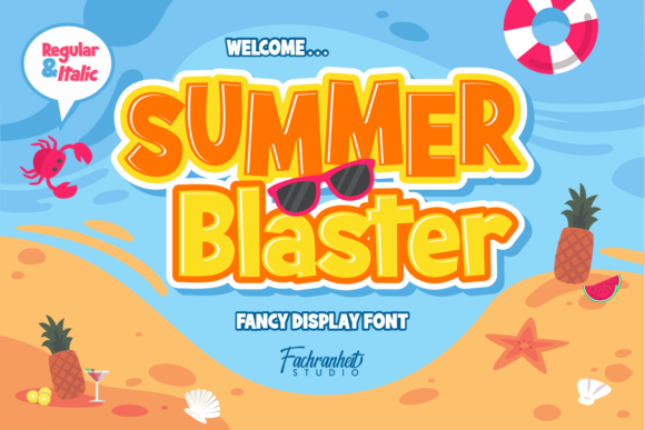 Print on Demand: Summer Blaster Display Font By fachranheit
