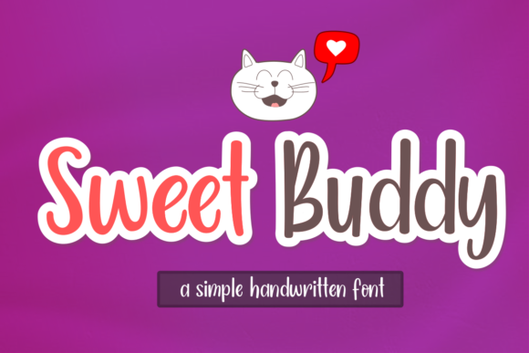 Print on Demand: Sweet Buddy Script & Handwritten Font By estede75