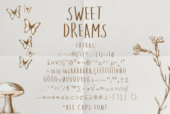 Print on Demand: Sweet Dreams Sans Serif Font By Just Bia - Image 3