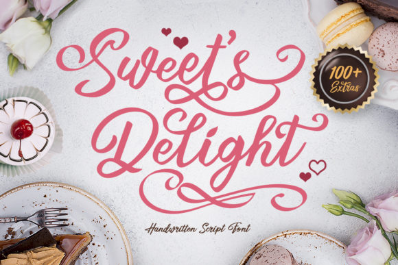 Print on Demand: Sweet's Delight Script & Handwritten Font By RVST