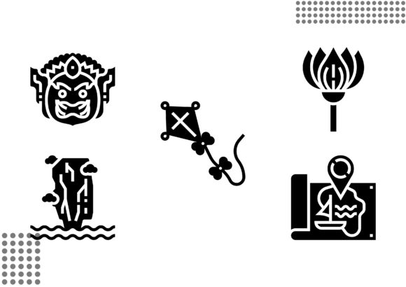 Download Free Thailand Symbols Fill Graphic By Cool Coolpkm3 Creative Fabrica for Cricut Explore, Silhouette and other cutting machines.