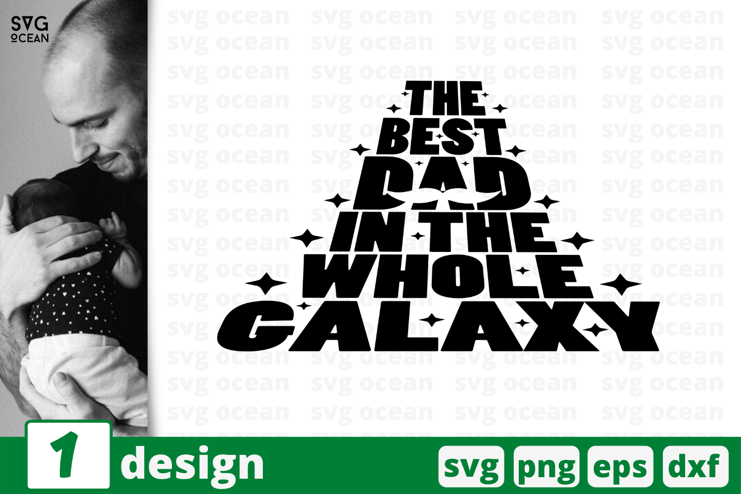 Download Free The Best Dad Graphic By Svgocean Creative Fabrica for Cricut Explore, Silhouette and other cutting machines.