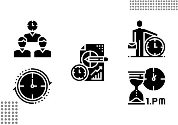 Time Management Fill Graphic Icons By cool.coolpkm3