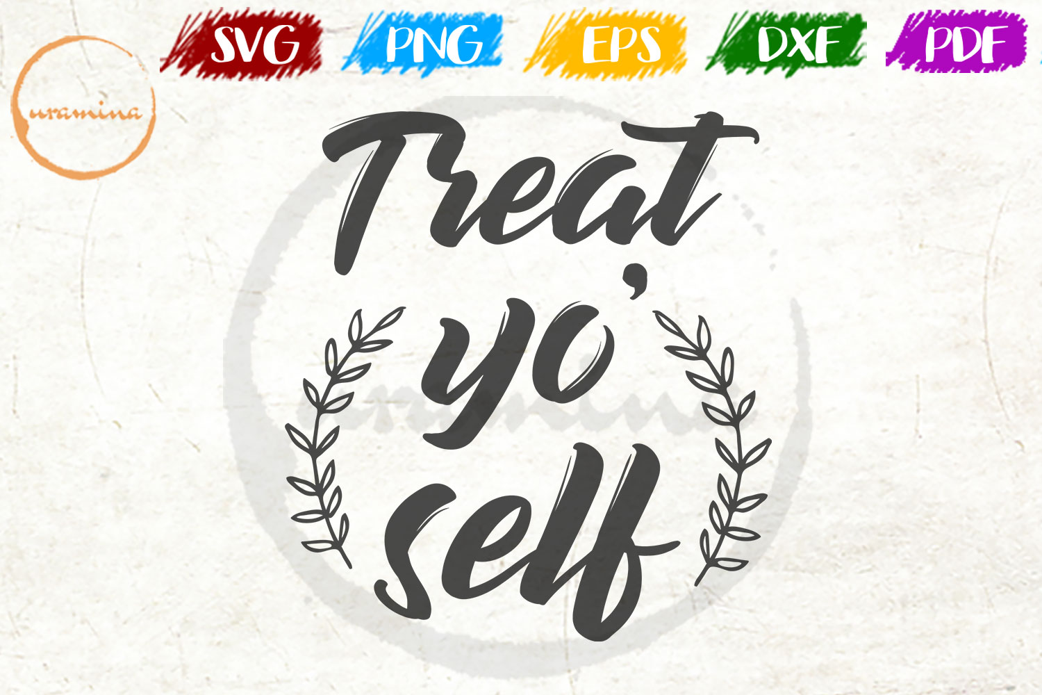Download Free Treat Yo Self Graphic By Uramina Creative Fabrica for Cricut Explore, Silhouette and other cutting machines.