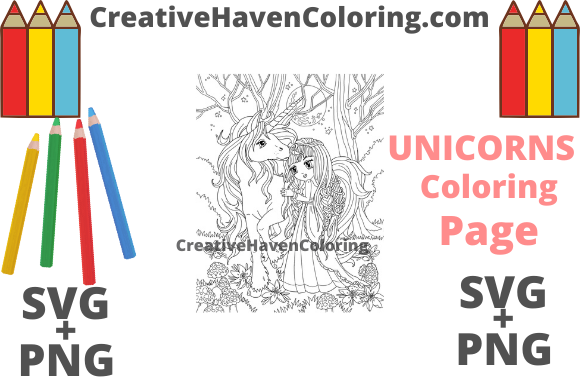 Download Free Unicorn Coloring Page 11 Graphic By Creativehavencoloring for Cricut Explore, Silhouette and other cutting machines.