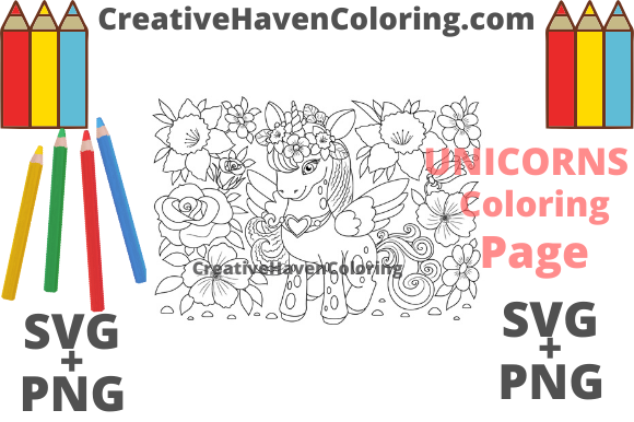 Unicorn Coloring Page 13 Graphic By Creativehavencoloring