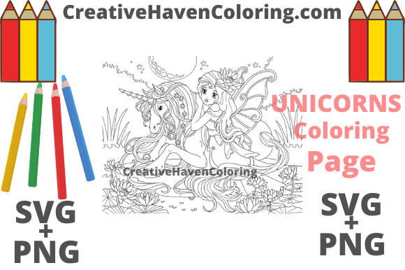 Download Free Unicorn Coloring Page 8 Graphic By Creativehavencoloring for Cricut Explore, Silhouette and other cutting machines.