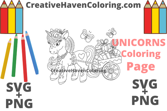 Print on Demand: Unicorn Coloring Page #9   Graphic Coloring Pages & Books Adults By creativehavencoloring