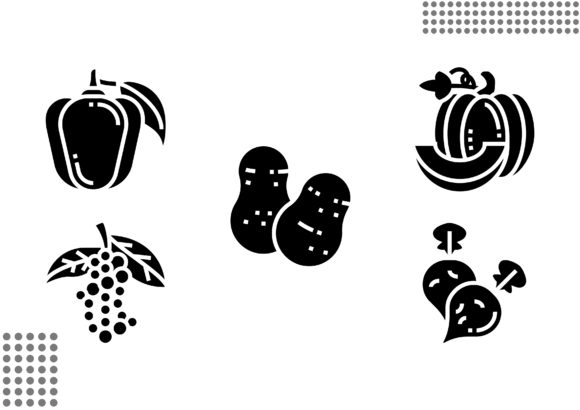 Vegetable Fill Graphic Icons By cool.coolpkm3