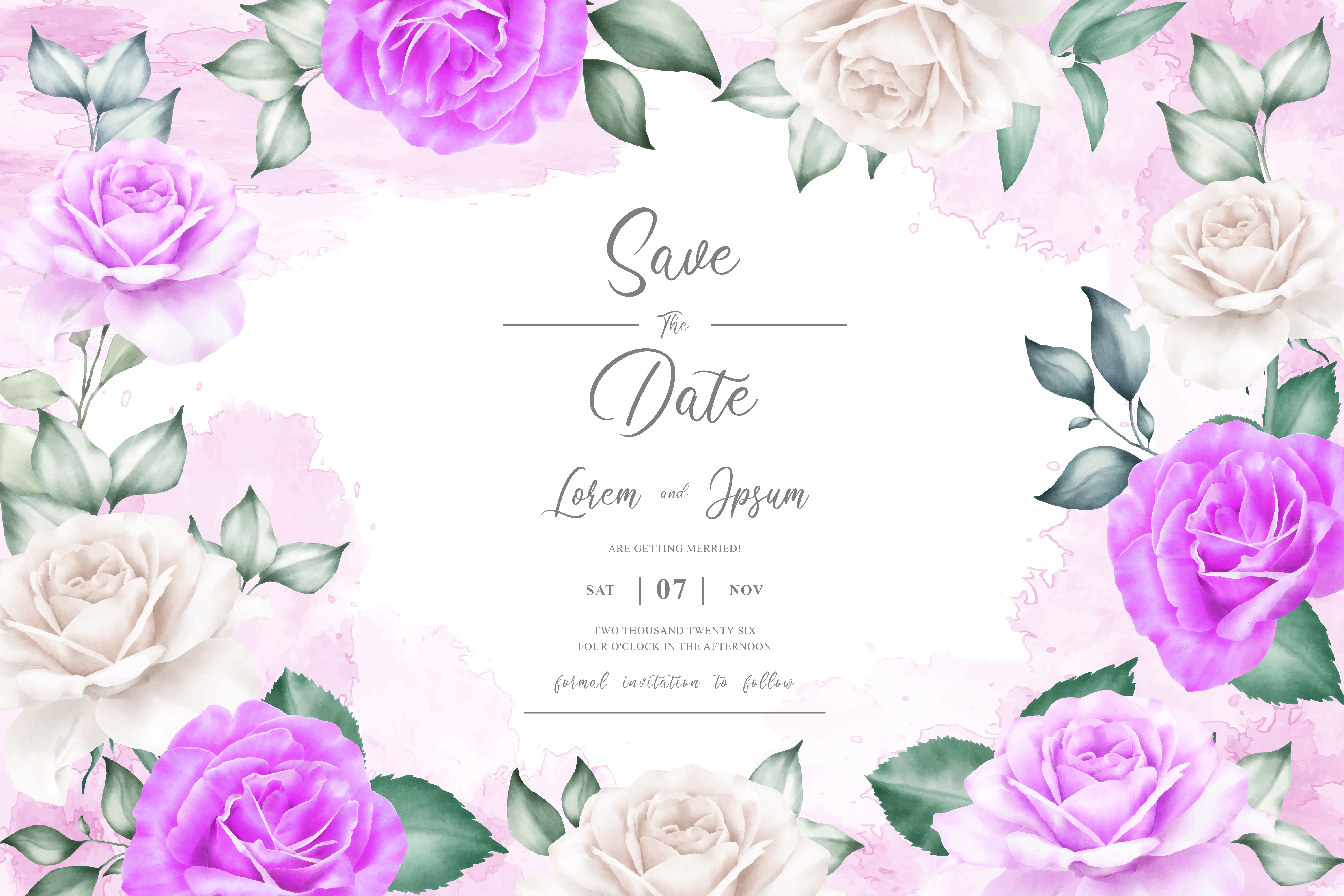 Download Free Watercolor Floral Frame Template Graphic By Federiqoend for Cricut Explore, Silhouette and other cutting machines.