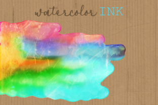 Print on Demand: Watercolor Rainbow Brush Stroke Borders Graphic Backgrounds By Prawny 2