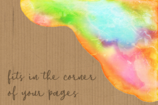 Print on Demand: Watercolor Rainbow Brush Stroke Borders Graphic Backgrounds By Prawny 3