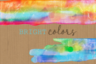 Print on Demand: Watercolor Rainbow Brush Stroke Borders Graphic Backgrounds By Prawny 4