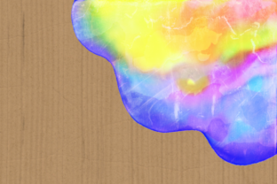 Print on Demand: Watercolor Rainbow Brush Stroke Borders Graphic Backgrounds By Prawny 7