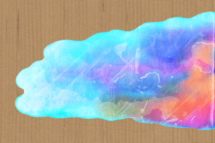 Print on Demand: Watercolor Rainbow Brush Stroke Borders Graphic Backgrounds By Prawny 9