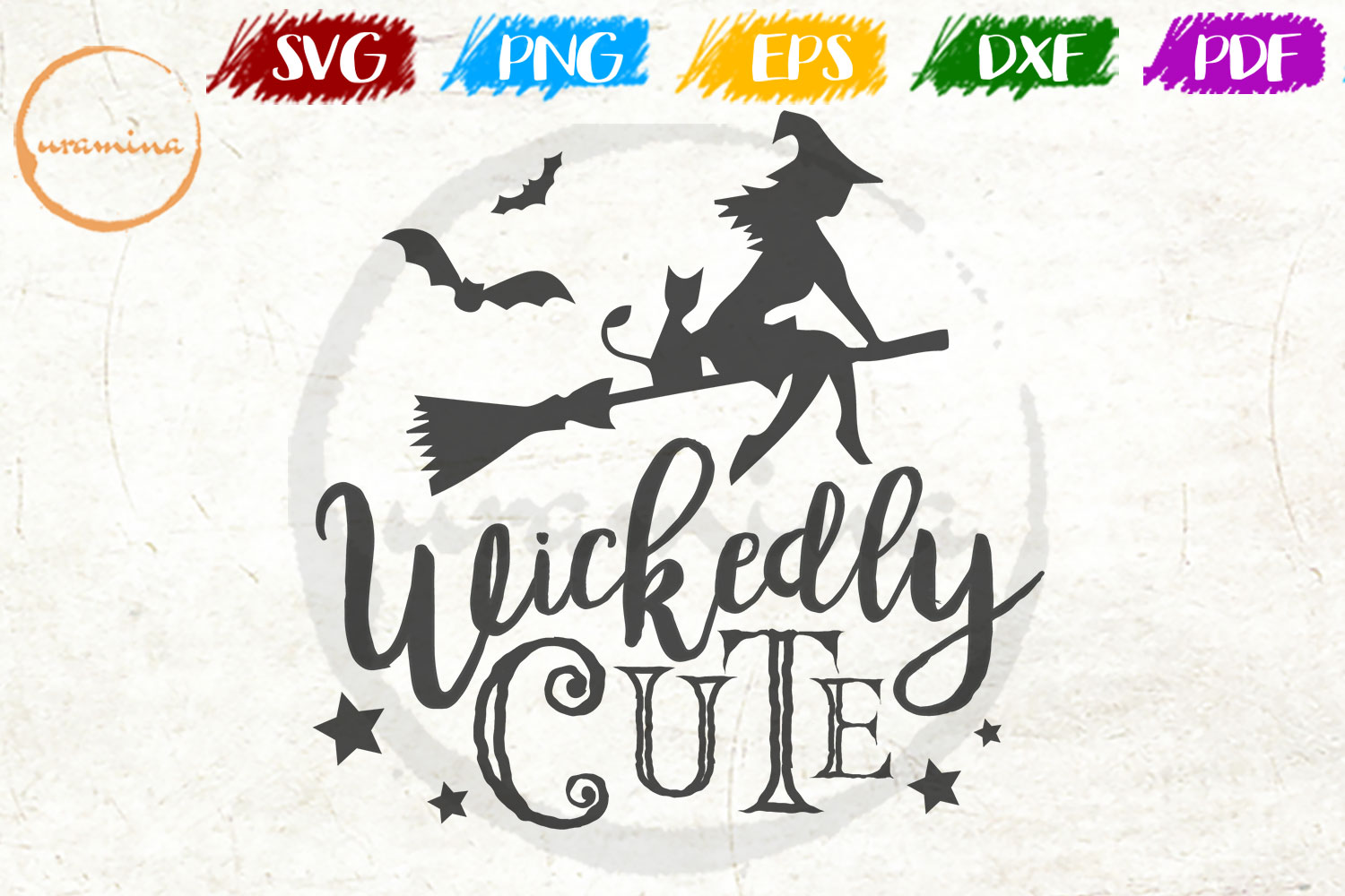 Download Free Wickedly Cute Graphic By Uramina Creative Fabrica for Cricut Explore, Silhouette and other cutting machines.