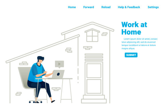 Download Free Work From Home During Covid 19 Pandemic Graphic By for Cricut Explore, Silhouette and other cutting machines.