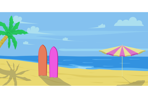 Background Summer Holiday Colorful Sea Graphic Holidays By ninik.studio