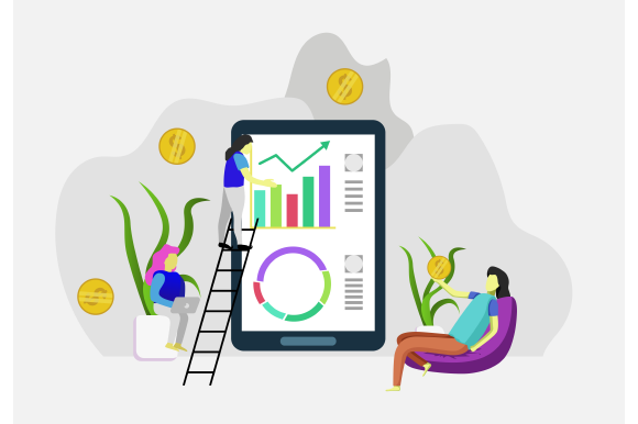 Download Free Business Finance Woman Monitoring Graphic By Ninik Studio for Cricut Explore, Silhouette and other cutting machines.