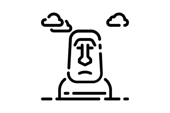 Download Free Easter Island Graphic By Khld939 Creative Fabrica for Cricut Explore, Silhouette and other cutting machines.
