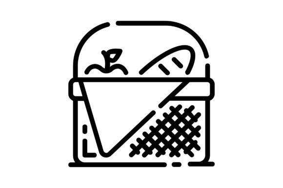 Print on Demand: Picnic Basket Graphic Icons By khld939 - Image 1