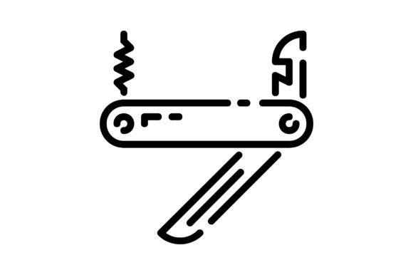 Print on Demand: Pocket Knife Graphic Icons By khld939
