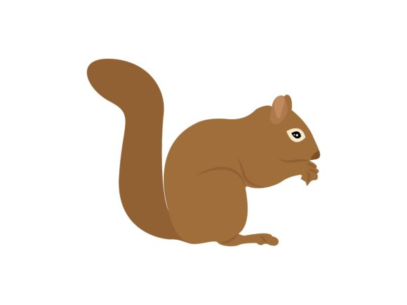 Download Free Squirrel Eatting Position Animal Graphic By Archshape Creative for Cricut Explore, Silhouette and other cutting machines.