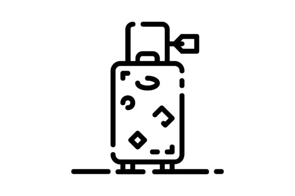 Print on Demand: Suitcase Graphic Icons By khld939