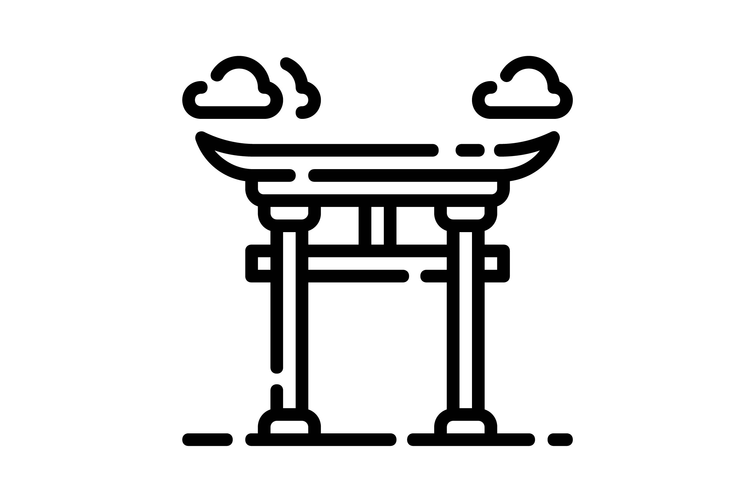 Download Free Torii Graphic By Khld939 Creative Fabrica for Cricut Explore, Silhouette and other cutting machines.