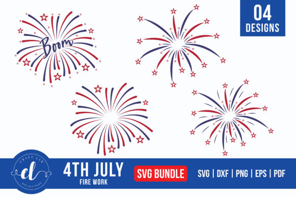 4th of July Firework Bundle Graphic Crafts By CraftlabSVG